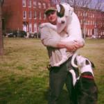 Emmett with Trainer